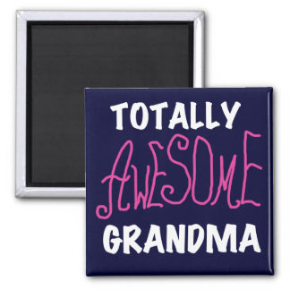 Totally Awesome Grandma Pink T-shirts and Gifts 2 Inch Square Magnet