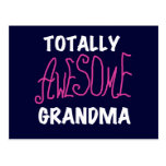 Totally Awesome Grandma Pink T-shirts and Gifts Post Card