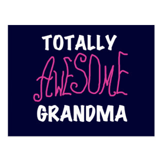Totally Awesome Grandma Pink T-shirts and Gifts Postcard