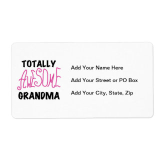 Totally Awesome Grandma - Pink Tshirts and Gifts Label