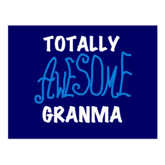 Totally Awesome Granma Blue T-shirts and Gifts Postcard