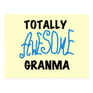 Totally Awesome Granma Blue Tshirts Gifts Postcard