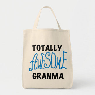 Totally Awesome Granma Blue Tshirts Gifts Tote Bag