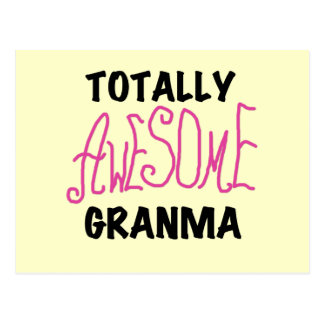 Totally Awesome Granma Pink Tshirts and Gifts Postcard
