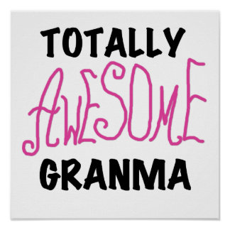 Totally Awesome Granma Pink Tshirts and Gifts Print