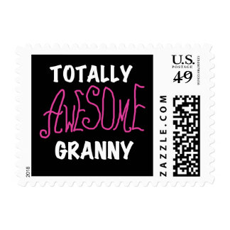 Totally Awesome Granny Pink Tshirts and GIfts Stamp