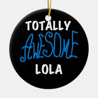Totally Awesome Lola Blue Tshirts and Gifts Christmas Ornaments