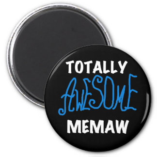 Totally Awesome Memaw Blue T shirts and Gifts 2 Inch Round Magnet