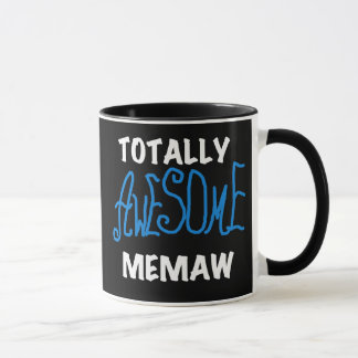 Totally Awesome Memaw Blue T shirts and Gifts Mug