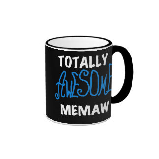 Totally Awesome Memaw Blue T shirts and Gifts Mugs
