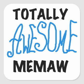 Totally Awesome Memaw Blue T-shirts and Gifts Sticker