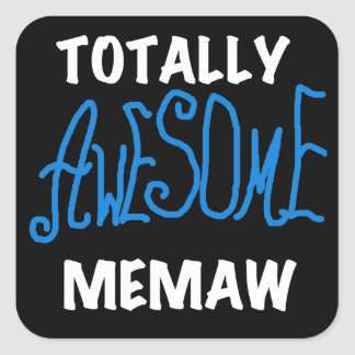 Totally Awesome Memaw Blue T-shirts Stickers