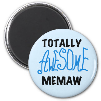 Totally Awesome Memaw Blue Tshirts and GIfts 2 Inch Round Magnet