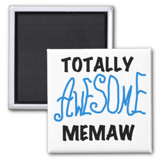 Totally Awesome Memaw Blue Tshirts and GIfts 2 Inch Square Magnet