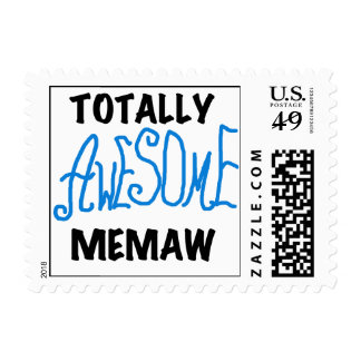 Totally Awesome Memaw Blue Tshirts and GIfts Postage