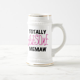 Totally Awesome Memaw Pink T-shirts and Gifts 18 Oz Beer Stein