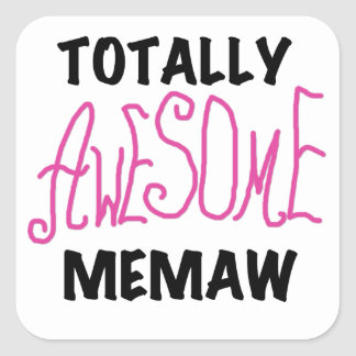 Totally Awesome Memaw Pink T-shirts and Gifts Stickers