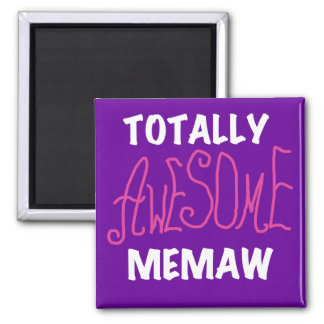 Totally Awesome Memaw Pink T-shirts 2 Inch Square Magnet