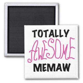 Totally Awesome Memaw Pink Tshirts and Gifts 2 Inch Square Magnet