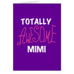 Totally Awesome Mimi Pink T-shirts and Gifts Greeting Cards