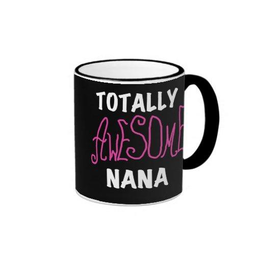 Totally Awesome Nana Pink T-shirts and Gifts Ringer Mug