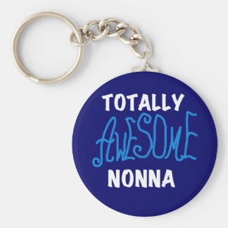 Totally Awesome Nonna Blue T-shirts and Gifts Keychain