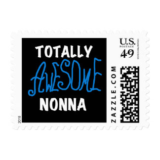 Totally Awesome Nonna Blue T-shirts and Gifts Stamp