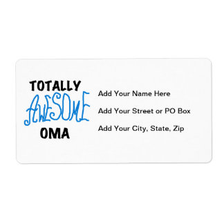 Totally Awesome Oma Blue T-shirts and Gifts Label
