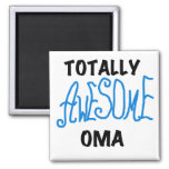 Totally Awesome Oma Blue T-shirts and Gifts 2 Inch Square Magnet