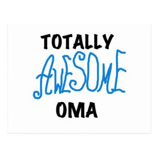 Totally Awesome Oma Blue T-shirts and Gifts Postcard