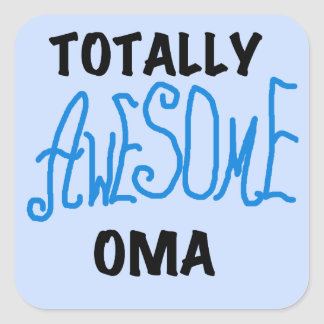 Totally Awesome Oma Blue T-shirts and Gifts Sticker
