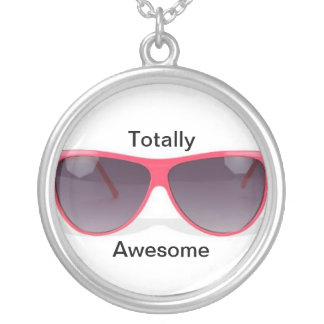 Totally Awesome Round Pendant Necklace