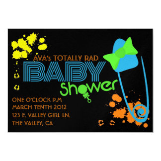 TOTALLY BABY (80s) INVITATION