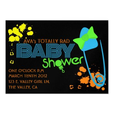 Toddler & Baby themed TOTALLY BABY (80s) INVITATION