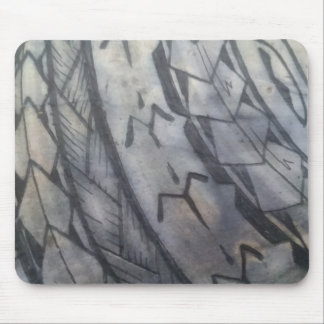 TOTALLY BADASS TRIBAL DESIGN MOUSE PAD