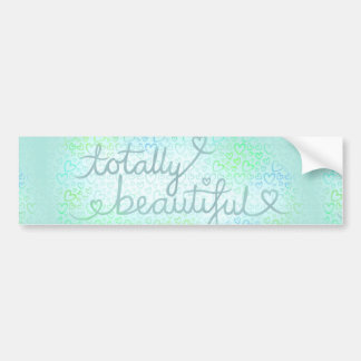 Totally Beautiful Ice Blue Bumper Sticker