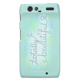 Totally Beautiful Ice Blue Droid RAZR Cover