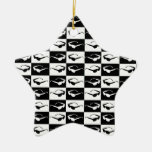 Totally Black and White 80's Ornaments