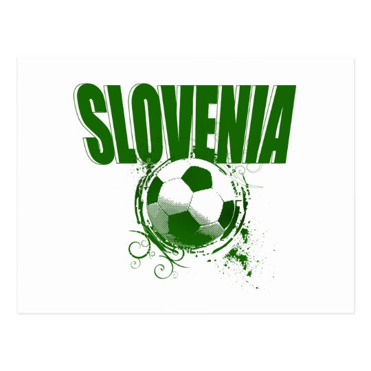 Totally cool Slovenia Green Grunge ball Artwork Postcard