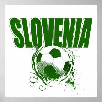 Totally cool Slovenia Green Grunge ball Artwork Poster