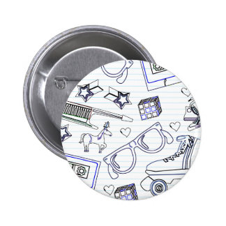 Totally Eighties Doodle 2 Inch Round Button