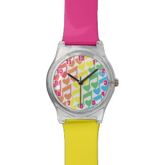 Totally Eighties Heart Notes Time Watch