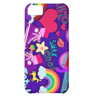 Totally Eighties Purple Collage iPhone 5C Covers