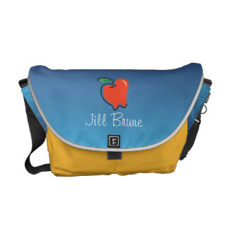 Totally Fruity_ Apple for the Teacher personalized Courier Bag