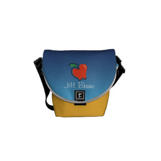 Totally Fruity_ Apple for the Teacher personalized Messenger Bags