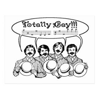 Totally Gay Barbershop Quartet Postcards