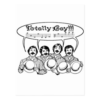 Totally Gay Barbershop Quartet Postcard