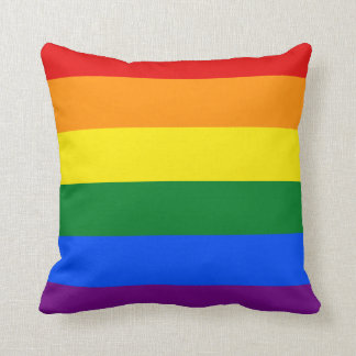 Totally Gay Pride Throw Pillow