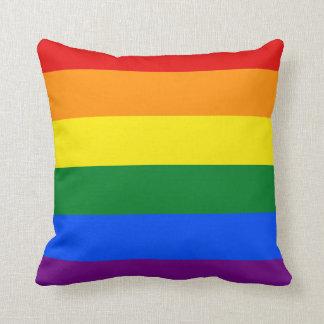 Totally Gay Pride Throw Pillow