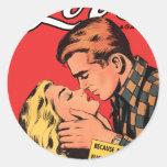 Totally in Love Round Sticker